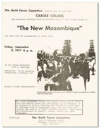 "The Guild Forum Committee invites you to come hear Carole Collins...""The New Mozambique"""