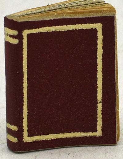 Miniature Book Studio. Carol Wenk, n.d.. First Printing. Full Leather. Near Fine binding. A micro bo...