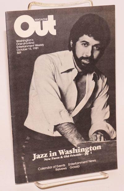 Washington DC: Out Enterprises, 1981. Magazine. 28p., 5.5x8.5 inches, photos, ads, listings, reviews...
