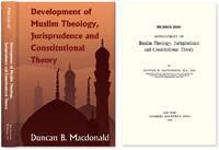 Development of Muslim Theology, Jurisprudence and Constitutional..