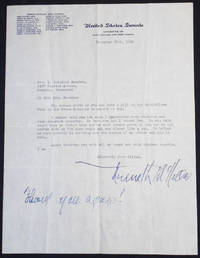Typed letter, signed, on United States Senate stationery, to Mrs. R. Brinkley Snowden of Memphis at Ashlar Hall