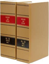 Harvard Law Review. Vol. 133 (2019-2020) Part 1-2, in 2 books