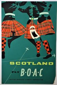 Scotland Fly B.O.A.C.: Travel Poster