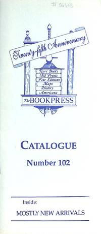 Catalogue 102/1997: Twenty-fifth Anniversary architecture and the art.  Books about books, and fine printing. miscellaneous.