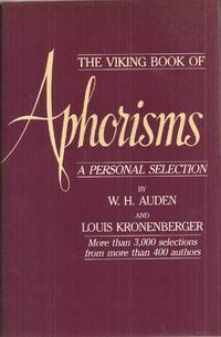 image of The Viking Book of Aphorisms: A Personal Selection