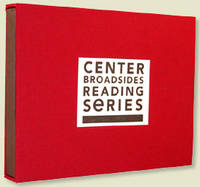 (New York: Center for Book Arts, 2006. loose sheets contained in red cloth covered matchbox style co...
