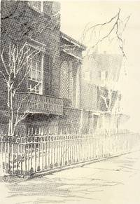 image of Fine Original 1922 Print of Details of a House Washington Square North N.  Y. by O. R. Eggers