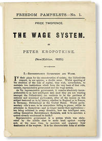 image of The Wage System. Freedom Pamphlets No. 1 (New Edition, 1920)