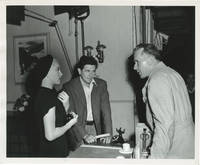 image of The Postman Always Rings Twice (Original double weight photograph of Lana Turner and John Garfield talking with director Tay Garnett, from the set of the 1946 film)