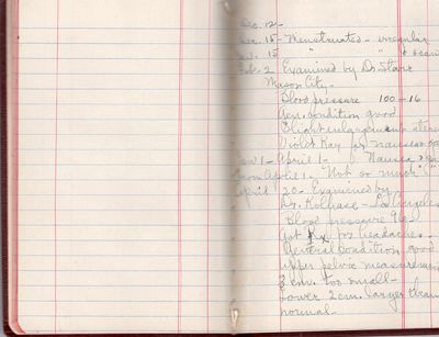 Los Angeles, 1926. Hardcover. Very good. Small memo book with 8p. extremely detailed account of firs...