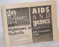 image of GCN: Gay Community News; the weekly for lesbians and gay males; vol. 15, #13, October 11-17, 1987; AIDS and Genes; part 2 of 3
