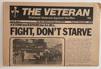 Chicago: VVAW, 1976. 16p., tabloid newspaper, horizontal fold, evenly toned, otherwise very good. Fr...