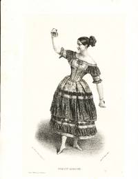 [Lithograph of the dancer in her famous castanet dance La Cachucha]