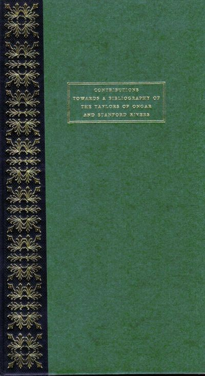 London: Crosby Lockwood & Son, 1965. First edition. Hardcover. Orig. dark green boards and gilt deco...