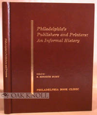 Philadelphia: Philadelphia Book Clinic, 1976. cloth. 4to. cloth. (xii), 121+(1) pages. Book has been...