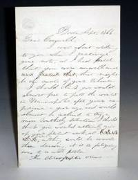 4 Page Autographed Letter Signed, Boston, 1866