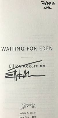 WAITING FOR EDEN (SIGNED, DATED & NYC)