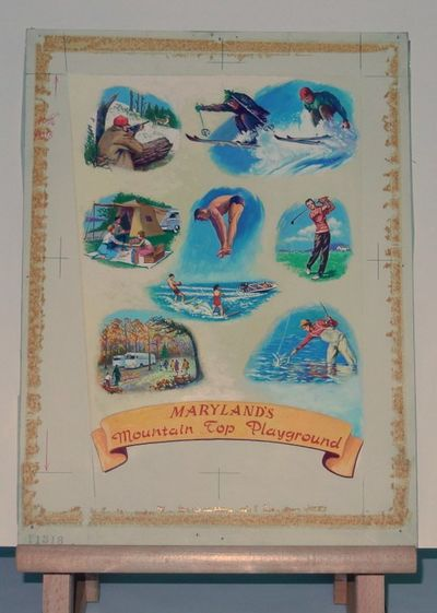 Maryland: , . Very Good. 11 3/4 x 15 3/4 inches (dimensions of artists' board). With original cropli...