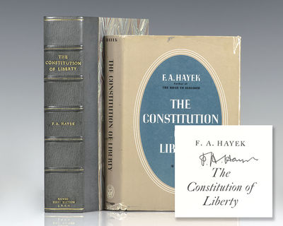 Chicago: The University of Chicago, 1960. First edition of Hayek's classic statement on the ideals o...