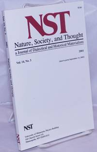 image of Nature, Society and Thought NST A Journal Of Dialectical And Historical Materialism 2001, Volume 14, Number 3