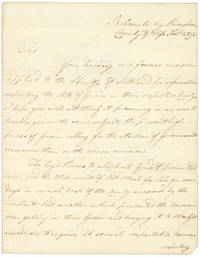 "Autograph Letter, signed (""Claud I. Boswell, Sheriff of Fife""), to First Viscount Melville Hanry Dundas"
