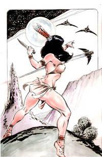 Dejah Thoris, Princess of Mars / original mixed media art by Butch Burcham