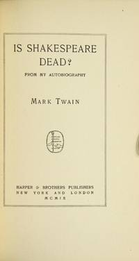 New York & London: Harper & Bros, 1909. First edition, issue B (no sequence) with the leaf inserted ...