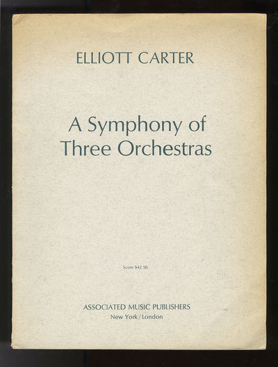 New York/London: Associated Music Publishers , 1978. Folio. Original publisher's gray wrappers with ...