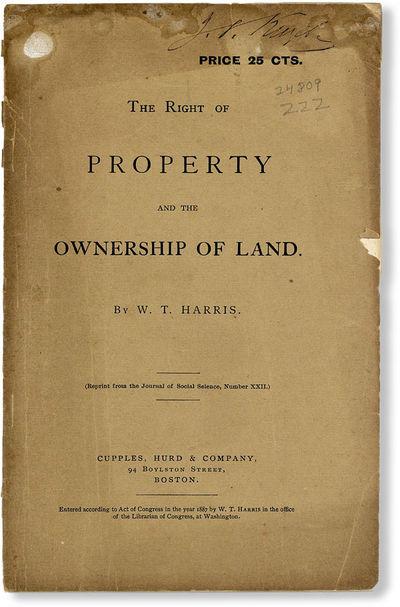 Boston: Cupples, Hurd & Company, 1887. Offprint. Paperback. A sympathetic but penetrating address on...