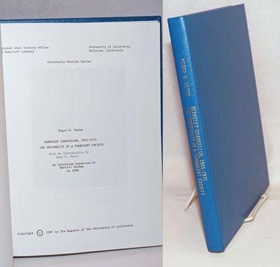 Berkeley: Regional Oral History Office, the Bancroft Library, University of California, 1987. , x, 1...