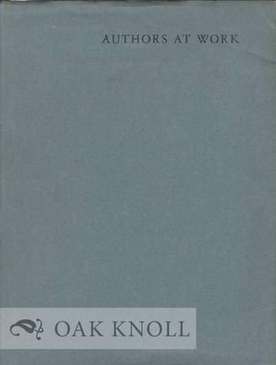 New York: The Grolier Club, 1957. cloth, dust jacket. 4to. cloth, dust jacket. 52 pages of text foll...