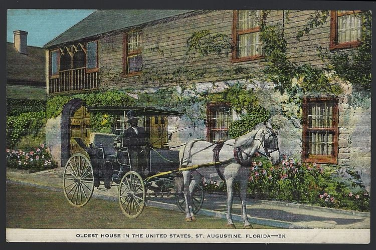OLDEST HOUSE IN THE UNITED STATES, ST. AUGUSTINE, FLORIDA, Postcard