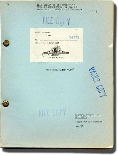 Beverly Hills, CA: Metro-Goldwyn-Mayer , 1939. Draft script for the 1939 film. Ice skating performer...