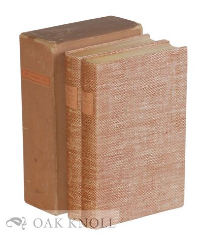 New York, NY: The Limited Editions Club, 1931. limp cloth, cloth spine labels, top edges gilt, slipc...