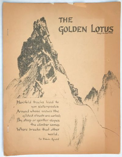 Philadelphia: The Golden Lotus Press, 1965. Single issue of the mimeographed Buddhist publication, p...