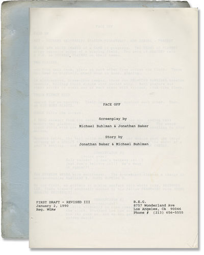Los Angeles: William Morris Agency, 1990. First Draft script for an unproduced film. Not to be confu...