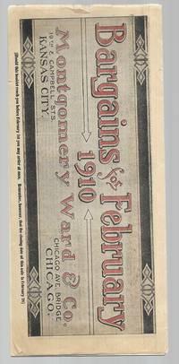 Montgomery Ward Catalog - Bargains for February 1910