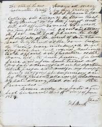 AUTHORIZING SAMUEL G. POWELL AS AGENT TO SELL THE STEAM BOAT BETTY POWELL, WRECKED AND RESTING IN THE TRINITY RIVER, GALVESTON, COUNTY, TEXAS, JUNE 15, 1859, in a manuscript document, signed by W.S. Mauck
