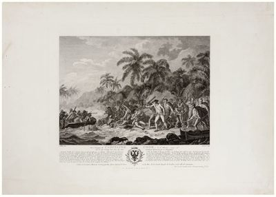 10 ½ x 11 ¾ inches. Excellent condition. A fine, separately published, French engraving of Webber'...