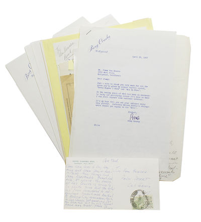 v.p., chiefly Hollywood and Palm Desert, California, 1969. Includes 3 page Autograph Manuscript of C...