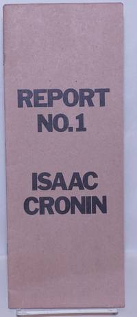 image of Report no. 1 [interior title: Critique of counterfeitism]