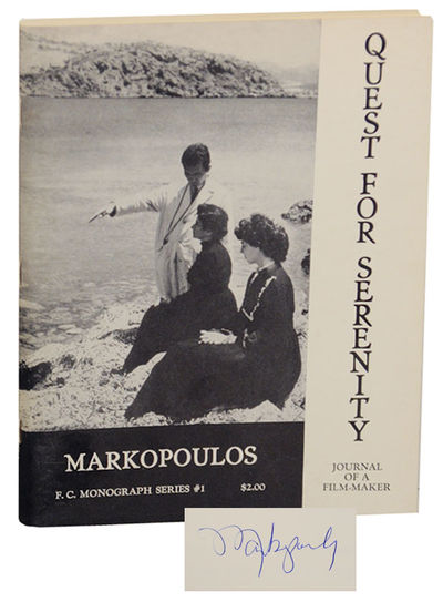 New York: Film-Makers' Cinematheque, 1965. First edition. Softcover. 80 pages. Number 691 of 1000 co...