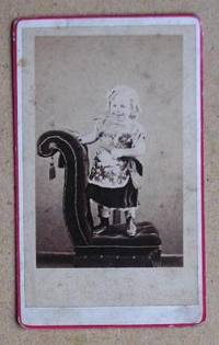 Carte De Visite Photograph: Portrait of a Young Girl Standing on a Chair.