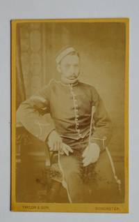 Carte De Visite Photograph: A Studio Portrait of a Young Soldier in Cavalry(?) Military Uniform.