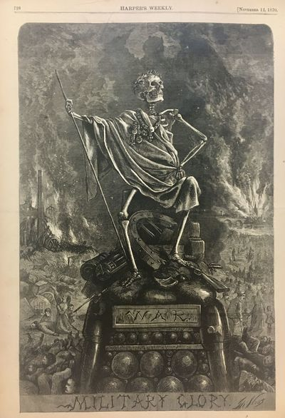 New York: Harper's Weekly, 1870. unbound. Woodcut. 11 1/4