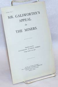 image of Mr. Galsworthy's appeal for the miners