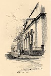 image of Fine Original 1922 Print of a Church on Charles Street, Baltimore MD by O.  R. Eggers
