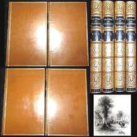 1854 THE WORKS OF OLIVER GOLDSMITH 4 VOLUME SET FINE BINDINGS ZAEHNSDORF BOUND POETRY PROSE DRAMA