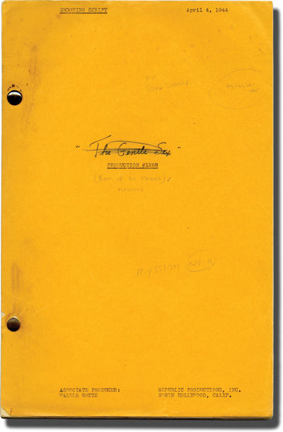 Los Angeles: Republic Pictures, 1944. Shooting Script for the 1944 film. A thriller completely domin...