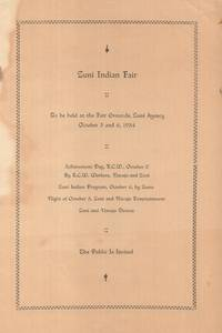 Zuni Indian Fair - To Be Held at the Fair Grounds, Zuni Agency, October 5  and 6, 1934 [cover title]